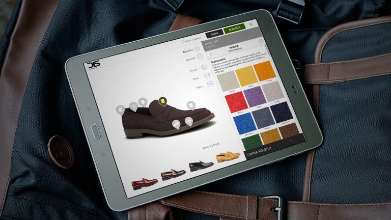 design italian shoes e-commerce configuratore