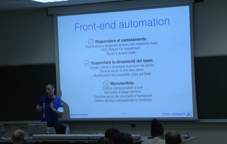 come il frontend automation aiuta tutto il team