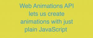 web animation api