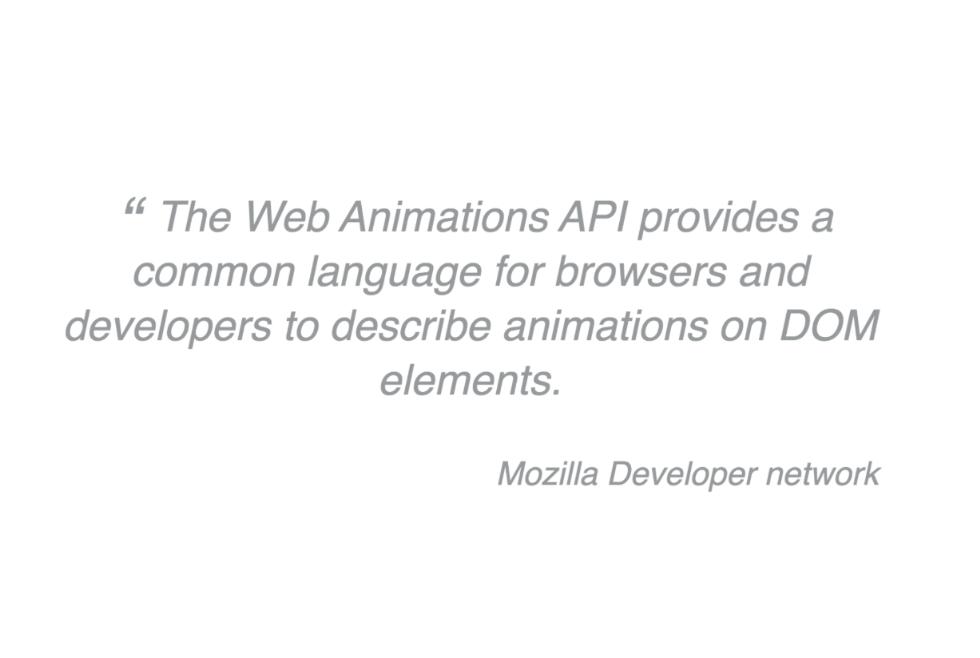 web animations api