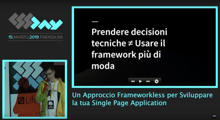approccio frameworkless sviluppare single application